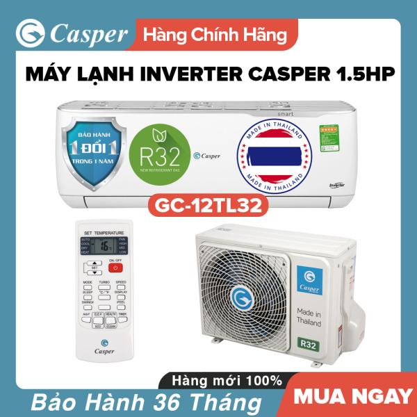 Bảng giá Máy Lạnh Inverter Casper 1.5HP - Model GC-12TL32 Dưới 20m2, Công Suất 12000BTU, Gas R32, Đổi mới 1 năm, Nhập khẩu Thái Lan, Máy Lạnh Giá Rẻ Chất Lượng - Bảo Hành 3 Năm Điện máy Pico