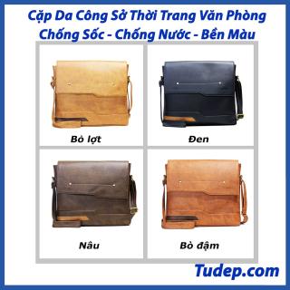 Túi Đựng Laptop Tư Đẹp Cao Cấp Cặp Xách Da Nam Đeo Chéo Đa Năng Công Sở Đi Học Chơi Đựng Latop Cấp 1 2 3( CA21) thumbnail
