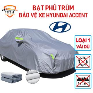 [HYUNDAI ACCENT] Bạt vải dù oxford bảo vệ xe ô tô Hyundai Accent phủ trùm kín cao cấp , áo trùm xe 5 chỗ chống nắng, chống nóng, chống xước, chống mưa ngoài trời, bề mặt ngoài mịn bóng , bac phu oto, xe hơi thumbnail