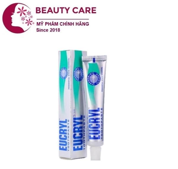 Kem Đánh Răng Bạc Hà Trắng Răng Eucryl Toothpaste 62g