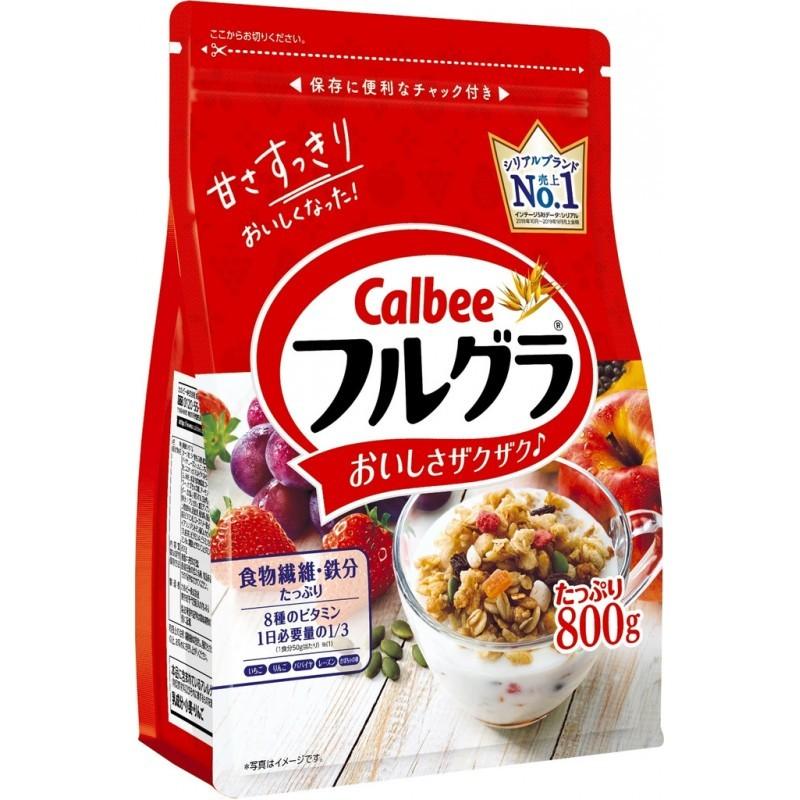 [Date Tháng 08.2021] Ngũ Cốc Calbee Đủ Màu Gồm Các Loại Hạt Trái Cây Sấy Khô Dinh Dưỡng Nhật Bản