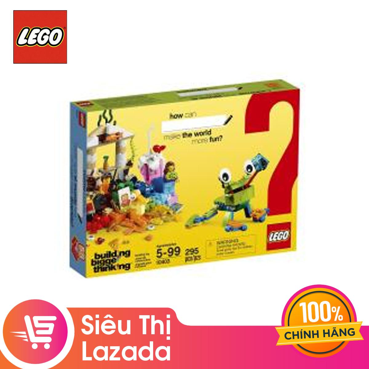 [Voucher Freeship 30k]Thùng Gạch Thế Giới Vui Nhộn LEGO BRANDCAMPAIGN - 10403 (295 Chi Tiết) Có Giá Tốt