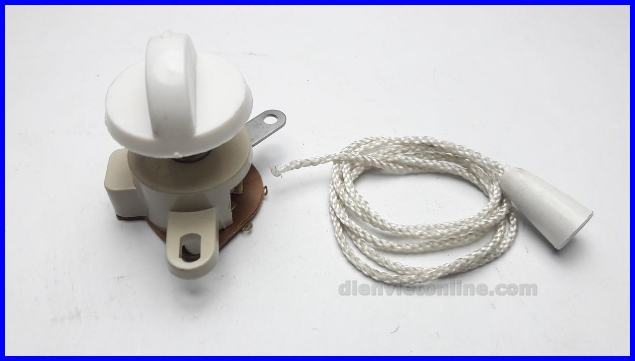 Bộ công tắc quạt treo tường loại 1 ( Công tắc + dây + núm ) - Điện Việt