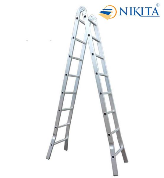 Thang nhôm xếp - Thang gấp chữ A - Thang gia đình đa năng 3.5m - chữ I 7m - Chính hãng NIKITA