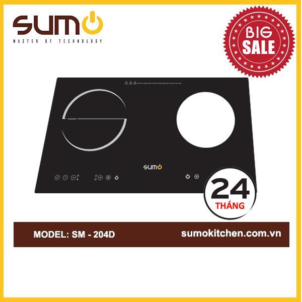 Bếp đôi (Từ+Gas) SUMO SM-204D