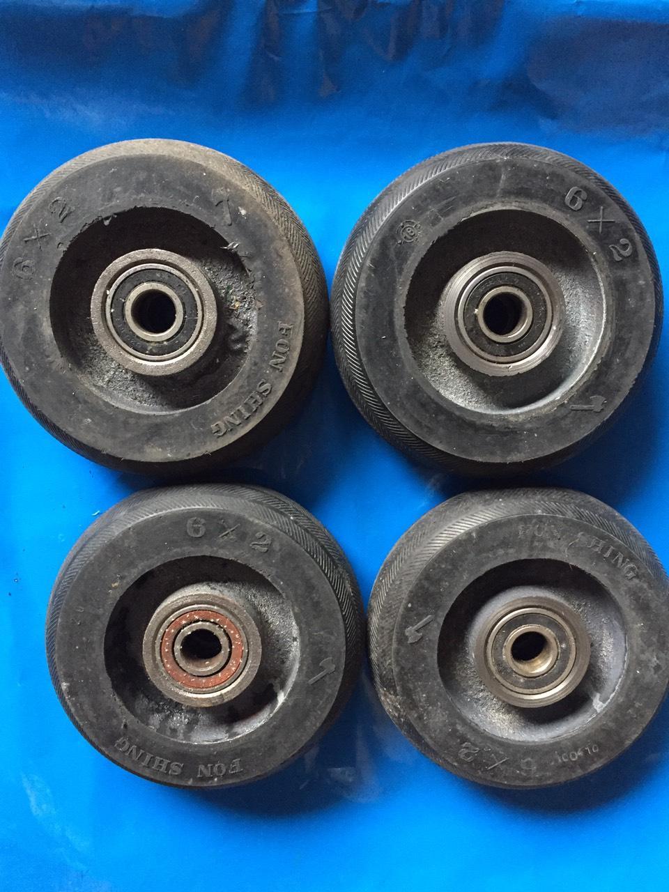 Bánh xe. bánh xe đẩy hàng, bộ 4 bánh xe chịu tải 600kg đường kính 13cm