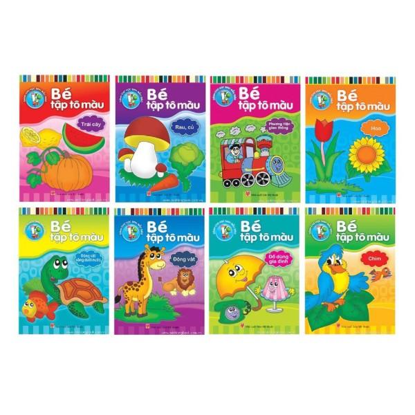 Sách Bé tập tô màu - túi 8 cuốn