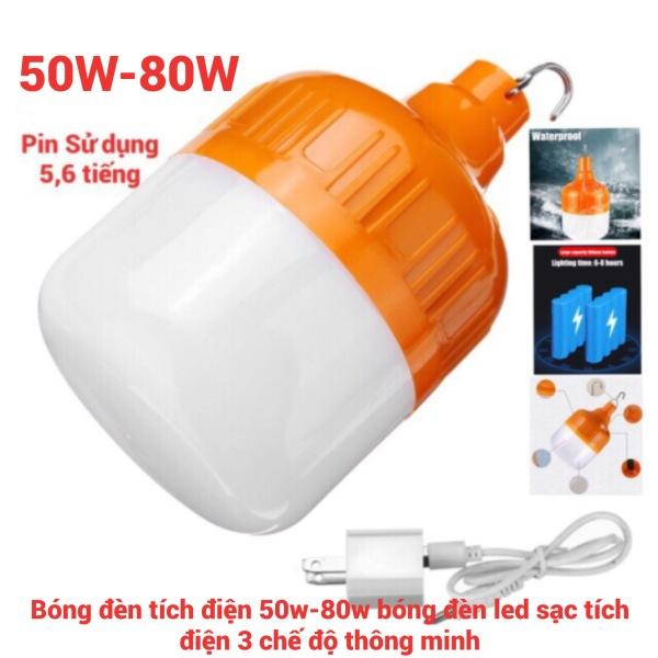 [Hàng chất lượng]Bóng đèn tích điện 4-6h cắm usb - Đèn sạc tích điện usb không cần dây điện