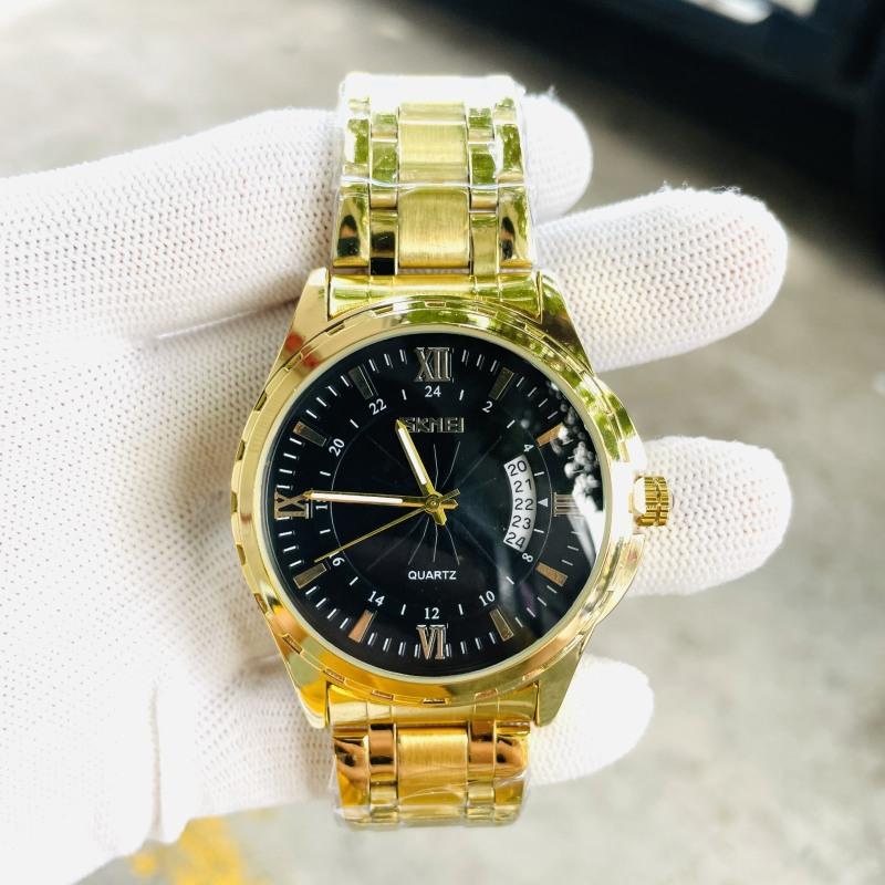 Đồng hồ nam SKMEI  (tặng kèm hộp  pin và phụ kiện thâu dây) Đồng hồ nam