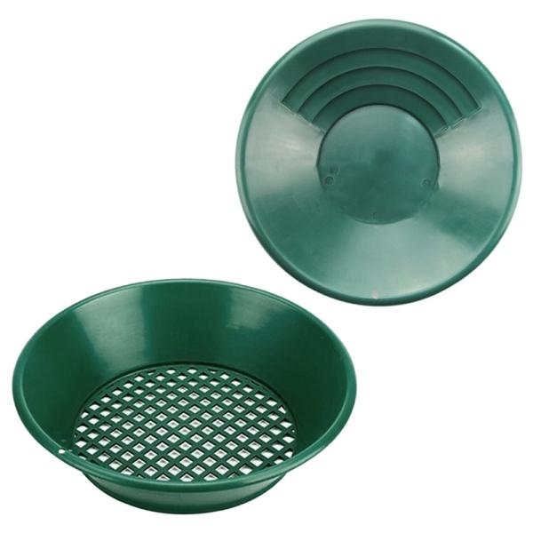 2Pcs Washing, Gold Panning Machine, Screen, Mining Screen, Metal Detection Tools, Green Plastic Bowl.Gold Pan
