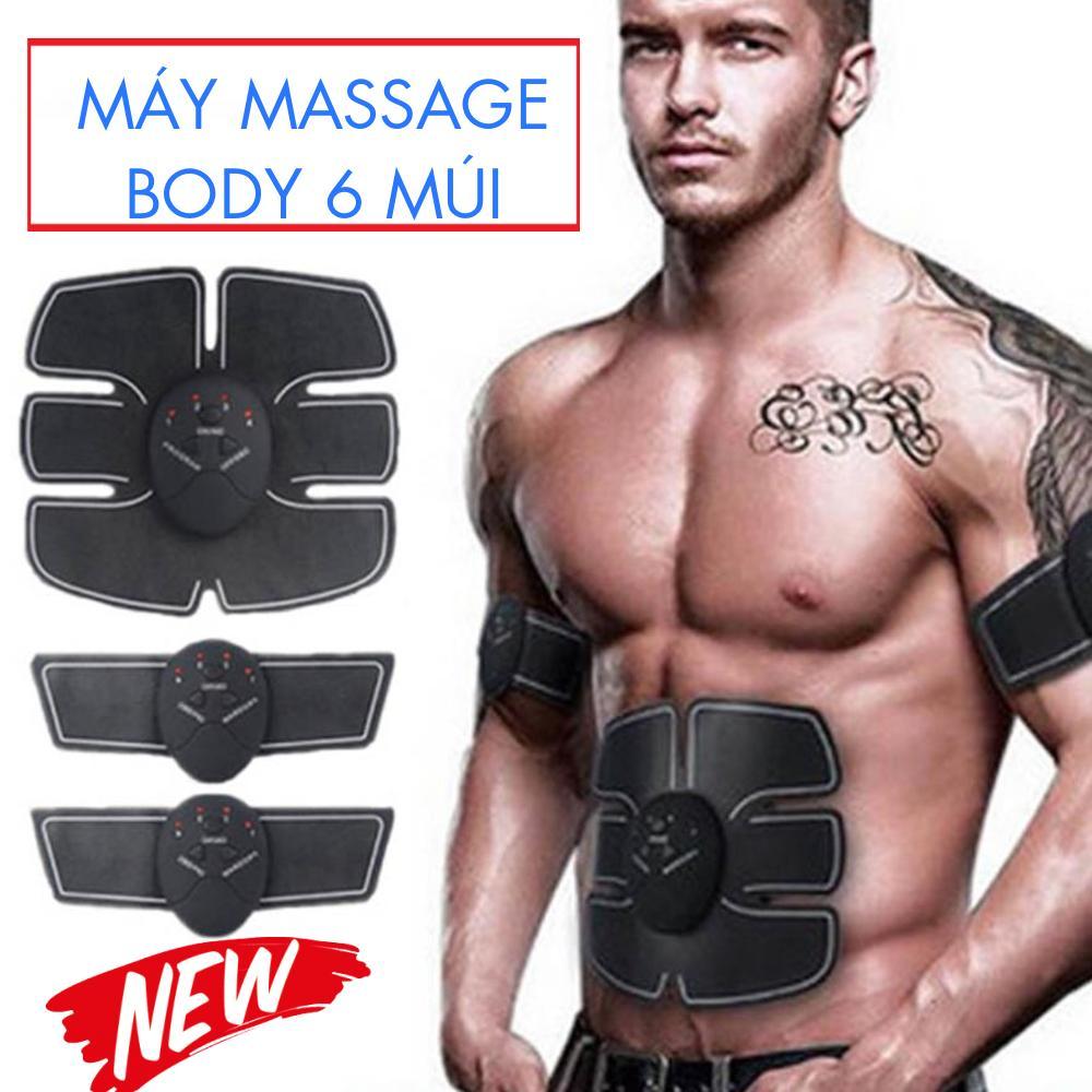 BỘ 3 Máy Massage Body 6 Múi NAM, NỮ 10 Cường Độ Làm Việc 6 Chế Độ Massage Điều Chỉnh Tốc Độ Giúp Cơ Bụng Săn Chắc -  BẢO HÀNH 12 THÁNG
