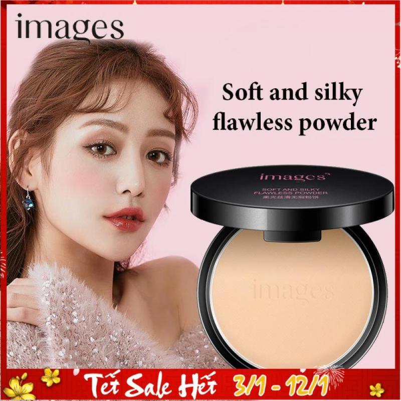 Phấn phủ siêu mịn kiềm dầu IMAGES Soft and silky Flawless Powder  phấn nén nội địa Trung 10gr TK-PP032