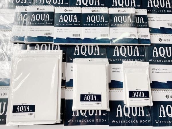Mua Giấy Vẽ , sổ vẽ Nabii Aqua Fat 300gsm A6/A5/A4