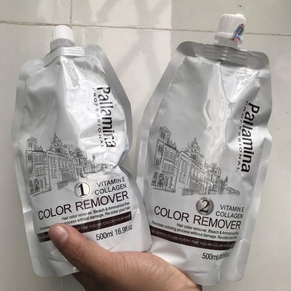 [HCM]Bóc màu đỏ đen OXY hóa PALLAMINA COLOR REMOVER HAIR 500mlx2