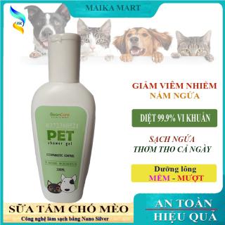 Sữa Tắm Chó Mèo, Sữa Tắm Cho Thú Cưng BeonCare. Giúp Pet Sạch Sẽ - Thơm Tho Cả Ngày. Lông Mềm Mượt. Chai 200ml thumbnail