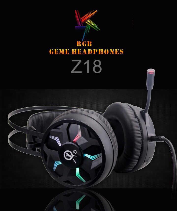 (Âm thanh 7.1) Tai nghe gaming Z18 ,tai nghe phòng net,tai nghe chụp tai hổ trợ mic -kết nối cổng USB