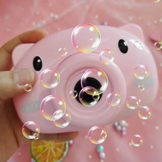 Đồ chơi máy ảnh thổi bong bóng hình heo lợn (không gắn trực tiếp bình) thumbnail