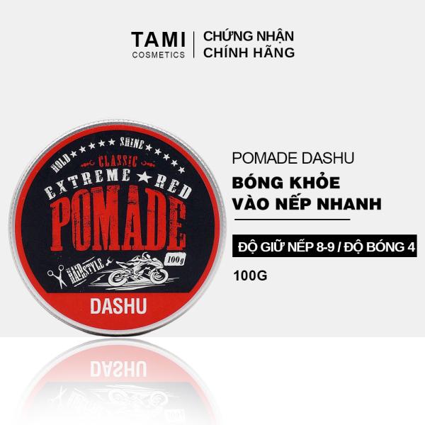 Pomade tạo kiểu tóc DASHU Extreme Red 100g sáp vuốt tóc nam Giữ nếp tốt phù hợp cho tóc xoăn TM-PM03