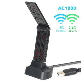 Wavlink Bộ Chuyển Đổi Mạng Không Dây USB3.0 AC1900 2.4GHz + 5Ghz Bộ Chuyển Đổi USB Không Dây Wi-Fi Băng Tần Kép Với 4 X 3dBi Ăng Ten Bên Trong Chức Năng WPS Điểm Truy Cập