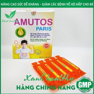 Siro AMUTOS Paris - Hàng chĩnh hãng - tăng đề kháng cho bé - Bổ sung Thymomodulin, Taurin, kẽm, vitamin - giảm nguy cơ mắc bệnh hô hấp, mũi, họng cho bé - Hộp 20 ống 10ml thumbnail