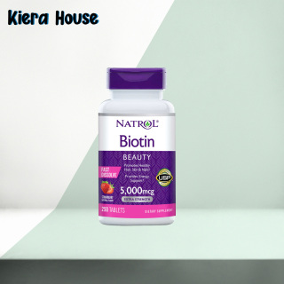 Viên ngậm hỗ trợ mọc tóc Natrol Biotin 5000mcg 250 Viên - Biotin 5000 mcg thumbnail