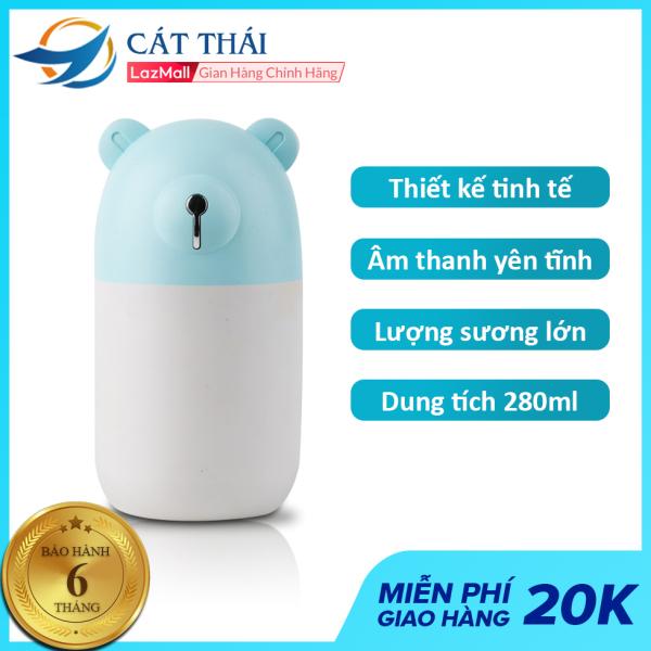Máy tạo ẩm mini Cát Thái M3 dung tích 280ml, đèn LED huyền ảo, lượng sương lớn với hạt sương nano siêu nhỏ, kích thước nhỏ gọn trọng lượng nhẹ chỉ 110g, âm thanh yên tĩnh
