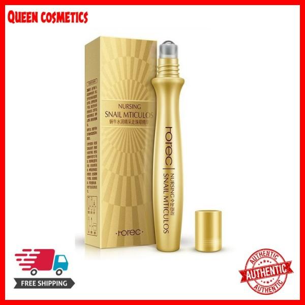 Thanh lăn mắt tinh chất ốc sên Rorec Snail Mticulos (queen cosmetics)