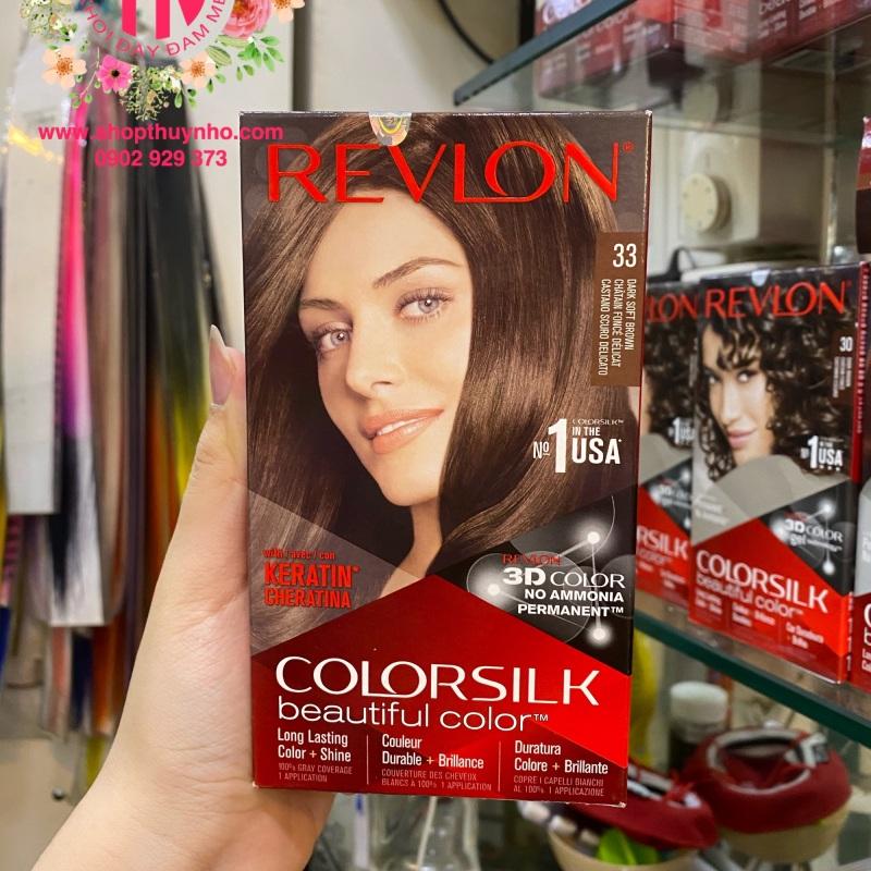 Thuốc nhuộm tóc Revlon ColorSilk số 33 - Nâu chocolate sáng cao cấp