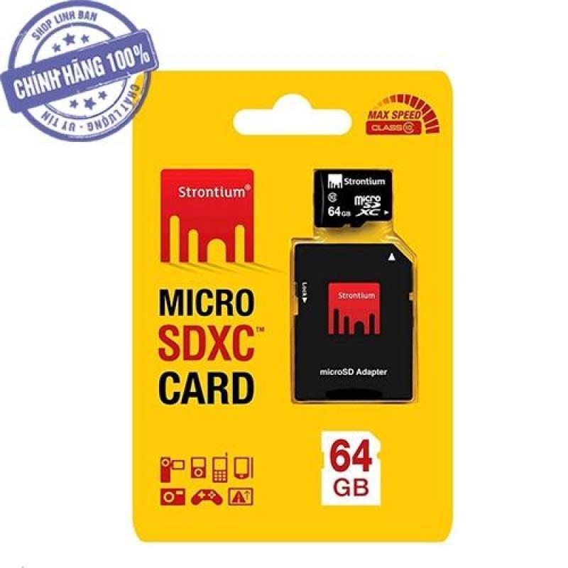 Thẻ nhớ micro SD Strontium 64GB class 10 SDXC