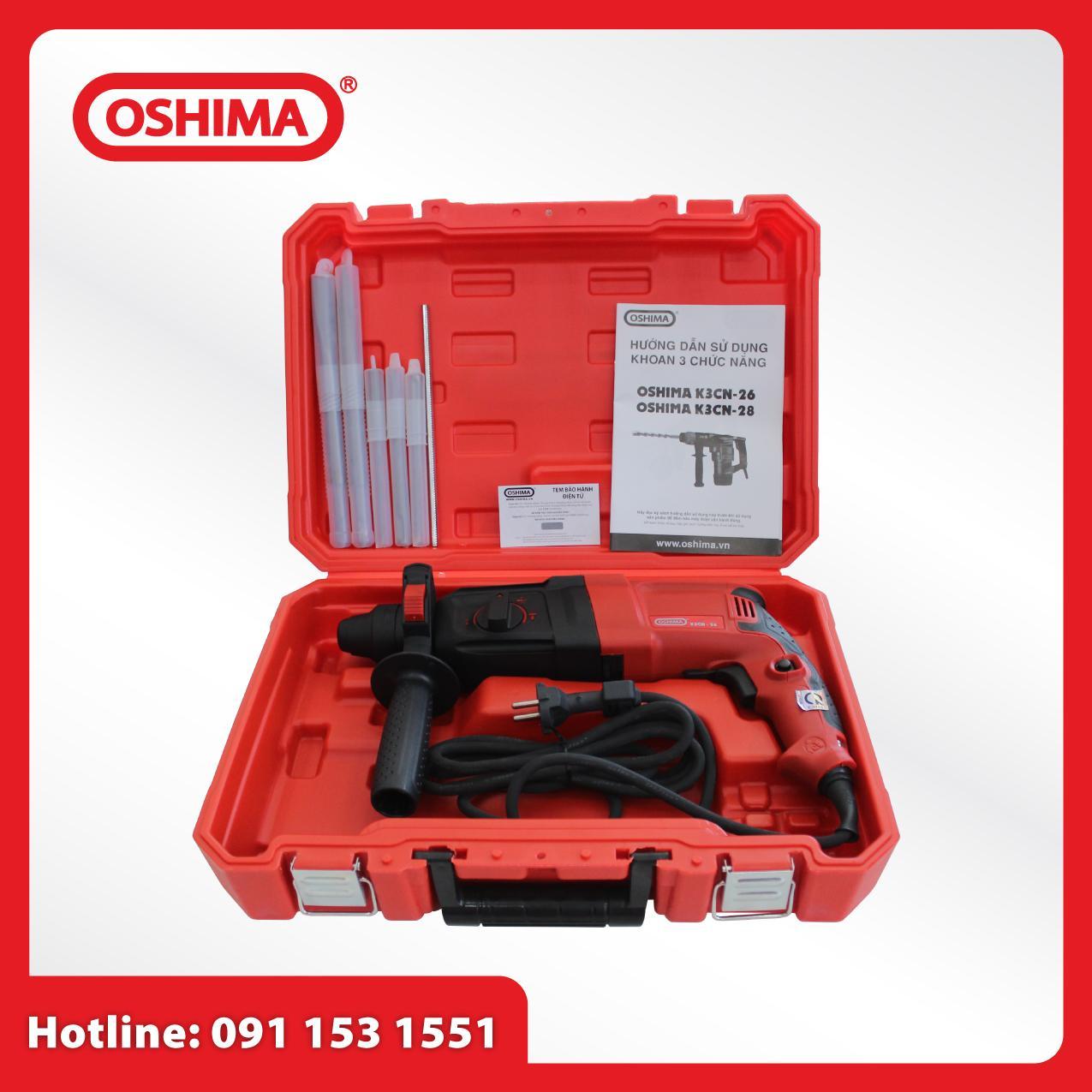Khoan đục 3 chức năng Oshima K3CN26