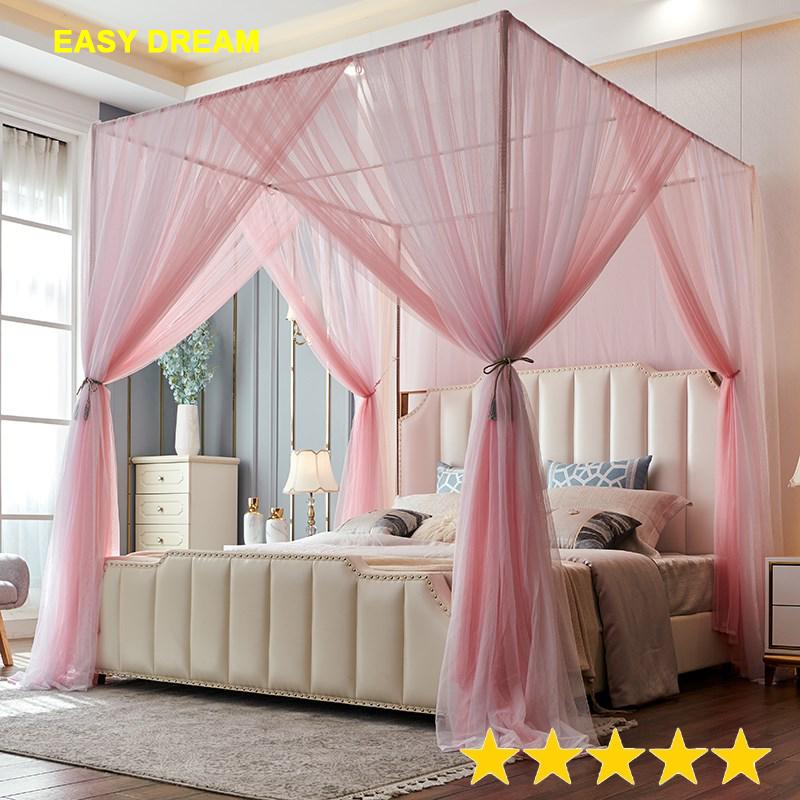 Easy Dream Mùng khung (màn ) cao cấp không khoan tường [ kích thước  1.8x2M ]  khung inox / vải tuyn mắt nhỏ chống  muỗi /chống công trùng /màn cưới - trang trí phòng ngủ . hãng Easy Dream