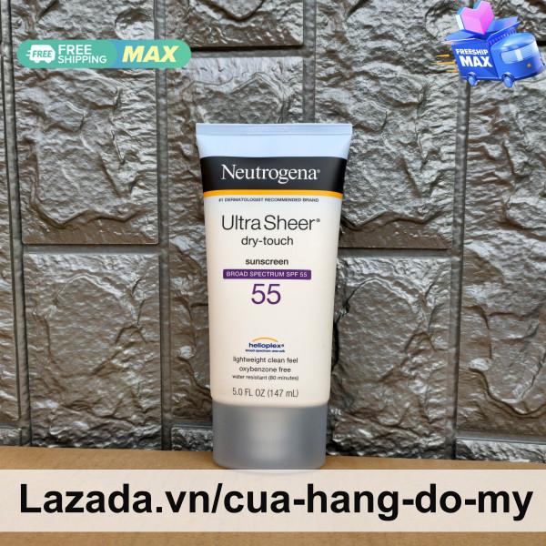Kem Chống Nắng Neutrogena Ultra Sheer Dry Touch SPF 55 88ml và 147ml của Mỹ - SPF55 SunScreen Broad Spectrum