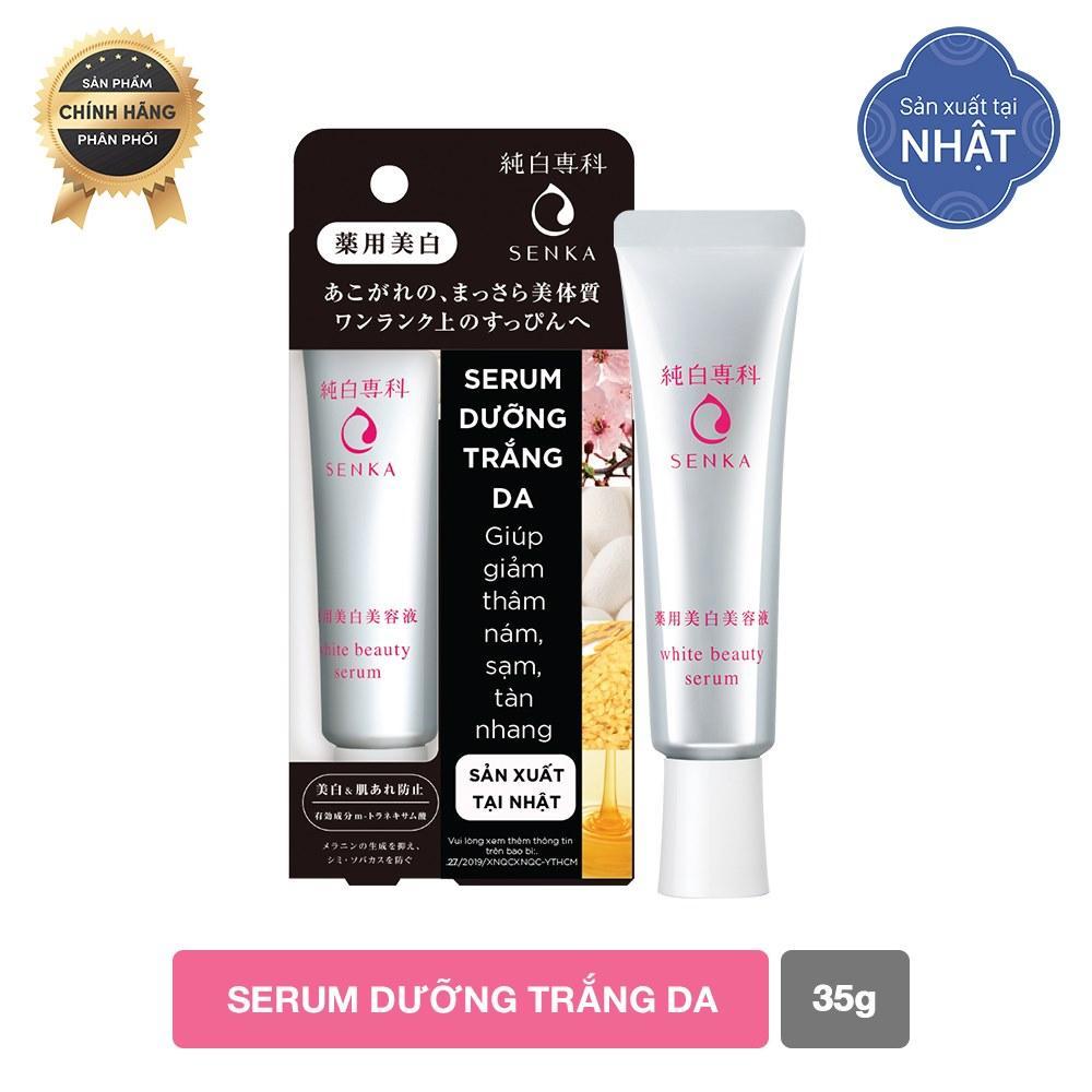 Serum dưỡng trắng da Senka White Beauty 35G