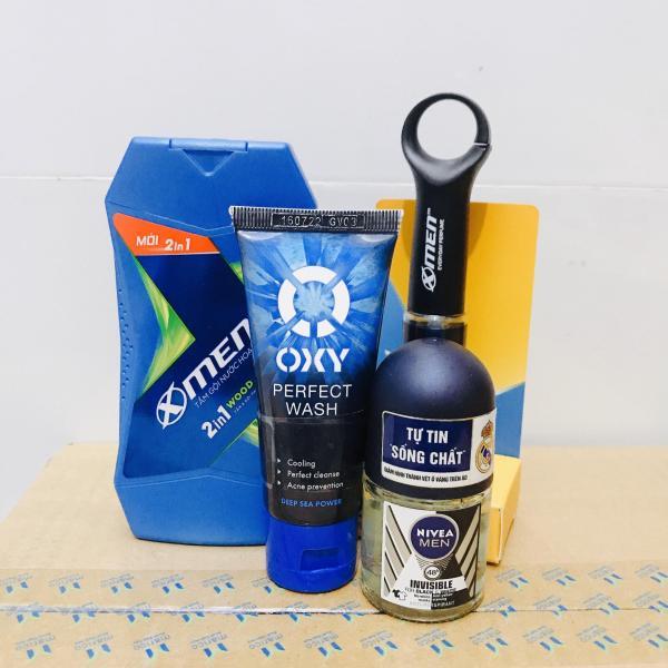 Mua trọn bộ 4 món dành cho nam - Tặng 5 gói dầu gội clear 6g gồm : 1chai nước hoa xmen up 22ml + 1 Chai Tắm gội 2in1 Xmen thơm mát 70g + 1 Chai lăn khử mùi nivea 12ml + 1 Tuýp sửa rửa mặt Oxy 25g