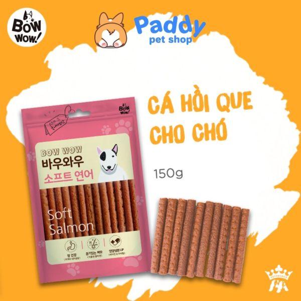 Cá Hồi & Gà Que Snack Cho Chó Bowwow Soft (150g)