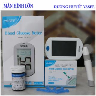 Máy đo đường huyết YASEE GLM-75 màn hình lớn, Máy đo đường huyết YASEE GLM-75 Đức (Tặng kèm 25 que thử và 25 kim), Máy đo đường huyết tiểu đường màn hình lớn thumbnail
