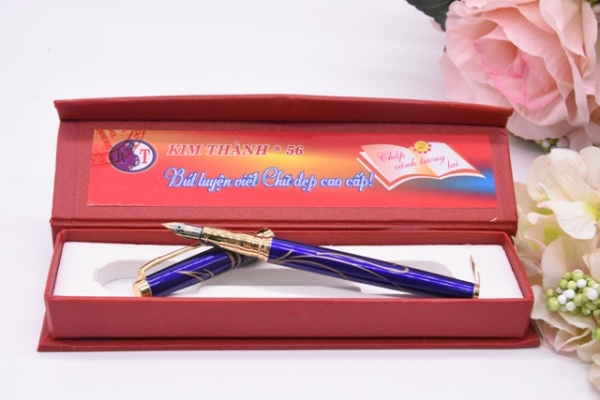 Bút Máy Luyện Chữ Đẹp Kim Thành 56, Nét Thanh, Nét Đậm, Kèm hộp đựng, cam kết chính hãng
