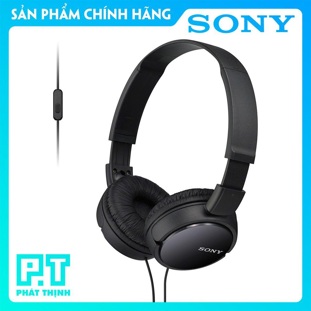 Tai nghe chụp tai Sony MDR - ZX110AP (Màu: Đen) - Bảo hành chính hãng 12 tháng