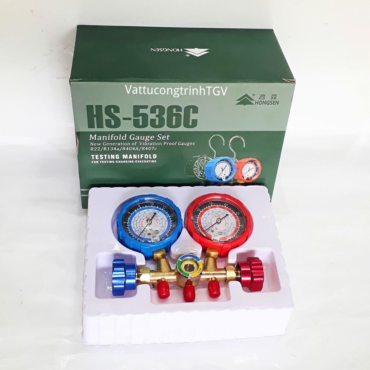 Bộ đồng hồ Gas đôi HONGSEN HS-536C