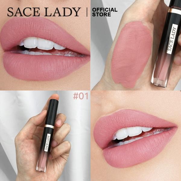 Son kem SACE LADY lâu trôi mềm mại cho đôi môi không kích ứng không thấm nước chuyên dụng cho trang điểm - intl cao cấp