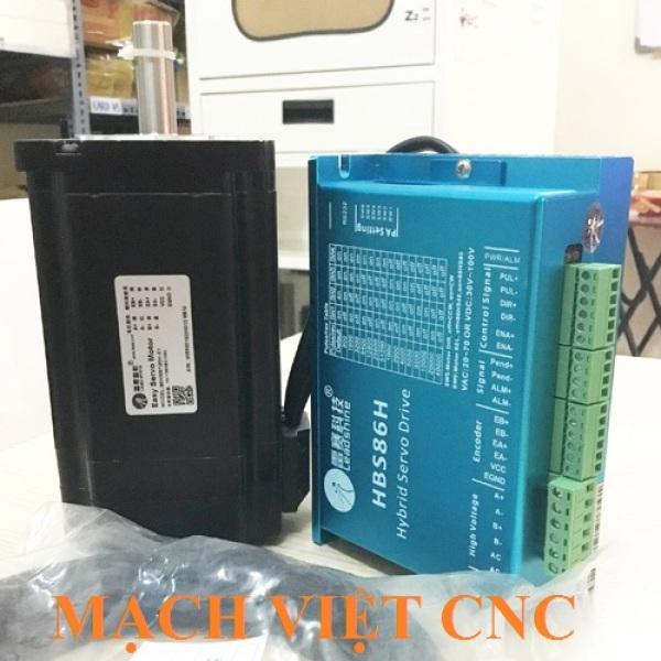 [Trả góp 0%]Bộ động cơ Hybrid Servo Leadshine 12Nm 86CME120 và Driver HBS86H