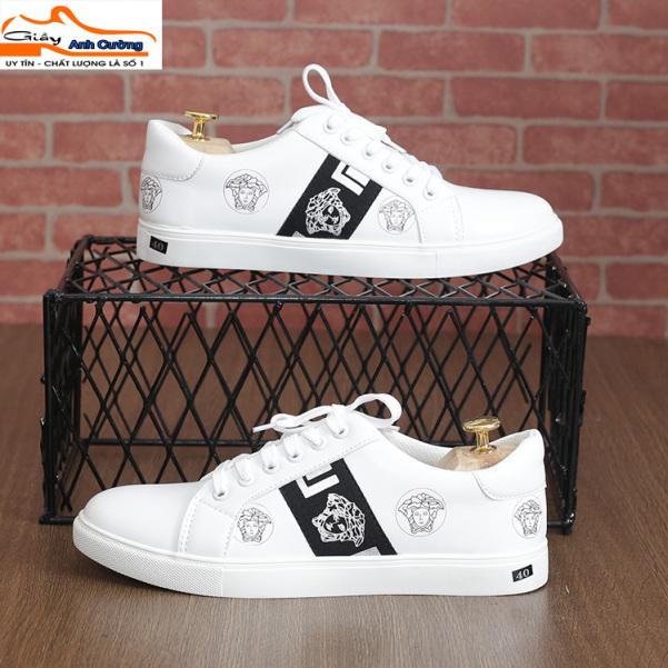 Giày sneaker nam - Giày thể thao nam trắng giá rẻ giá rẻ