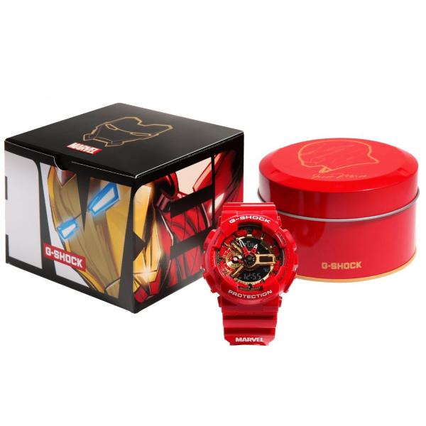 Nơi bán Đồng hồ Casio G-Shock Avengers Marvel x Iron Men GA-110 - Đồng hồ thể thao G Shock Nam Phiên Bản Giới Hạn - Đồng Hồ Casio