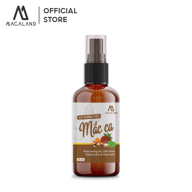 Xịt dưỡng tóc Macadamia 30ml MACALAND nuôi dưỡng và phục hồi mái tóc bồng bềnh