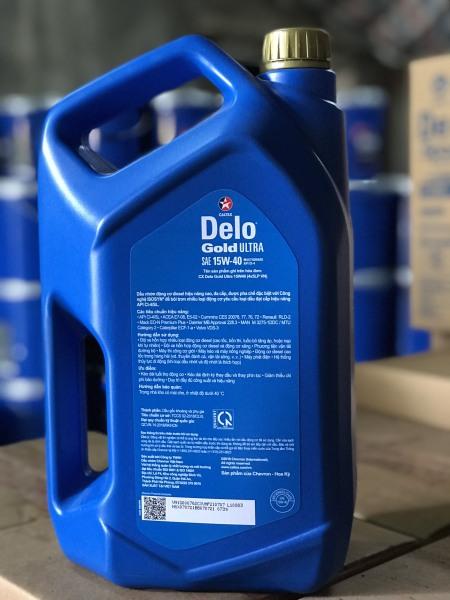 DẦU NHỚT ĐỘNG CƠ DIESEL DELO DELO ® GOLD ULTRA SAE 15W-40 (20w-50) (Can 5L)