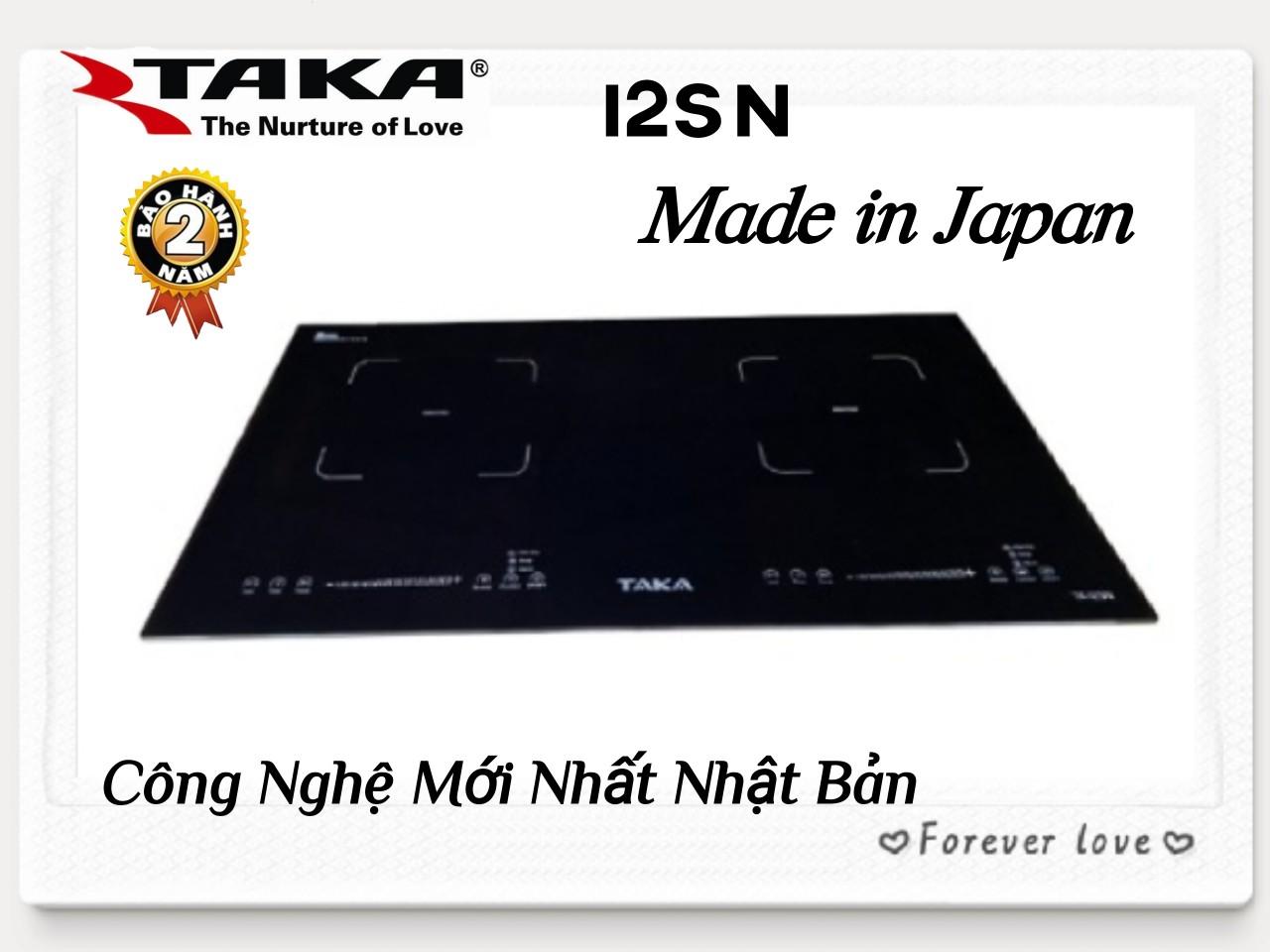 [Trả góp 0%]Bếp Từ Đôi Kính Made In Japan TAKA I2SN