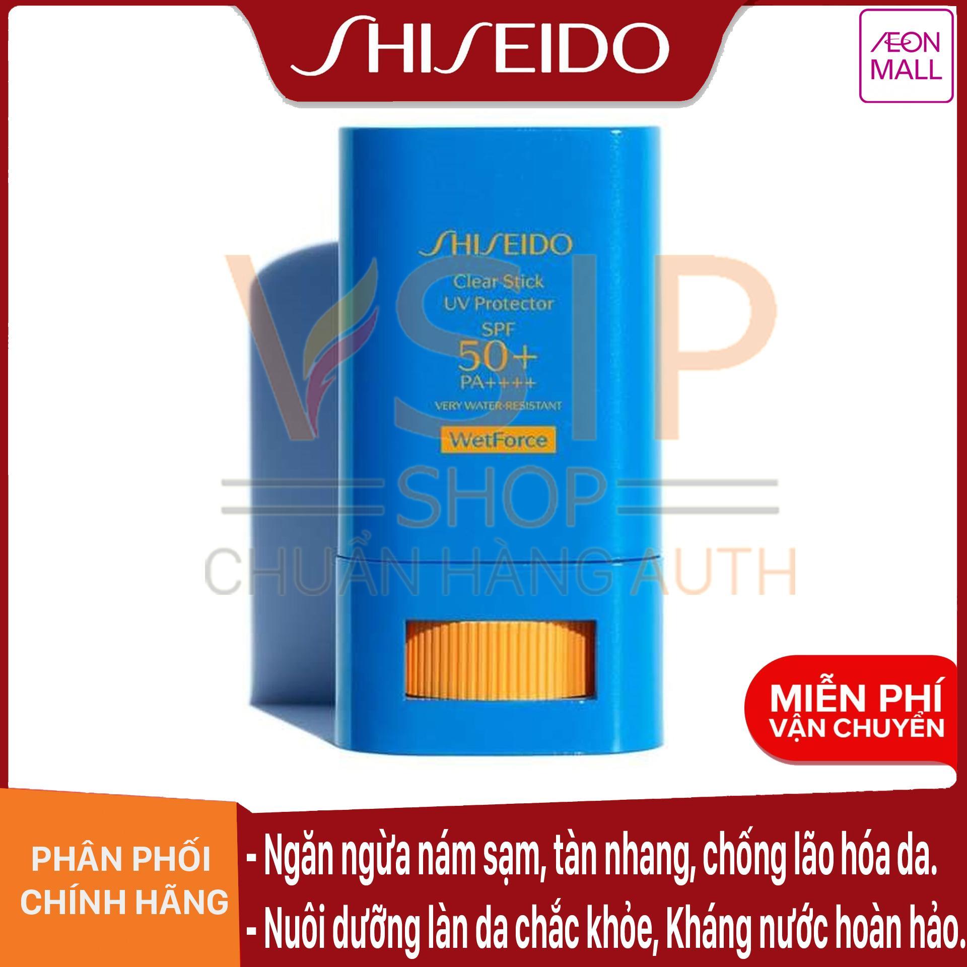 Kem Chống Nắng Dạng Sáp Không Trôi Shiseido Clear Stick UV Protector 15g Cùng Giá Khuyến Mãi Hot