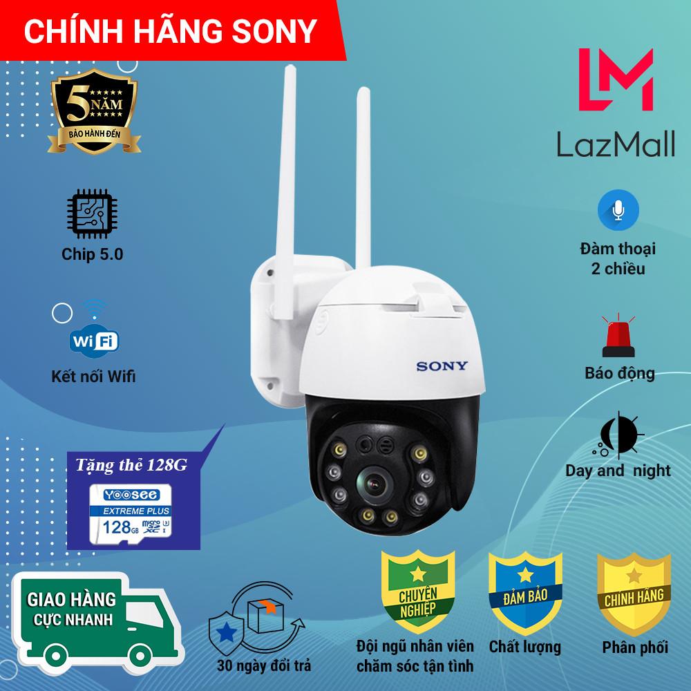 (Combo Camera Thẻ 128GB Yoosee Bảo Hành 60 Tháng ) Camera Wifi Sony PTZ Xoay 360 Độ Chíp  SONY 5.0MP Ngoài Trời - Trong Nhà Full Hd 3.0MP , Siêu Chống Chịu Thời Tiết - New 2021 Chất lượng nhất