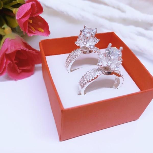 Nhẫn bạc nữ đính đá cao sang trọng, mẫu mới thời trang- JQN gian hàng chính hãng cam kết bạc chuẩn, chất lượng không lo đen xỉn
