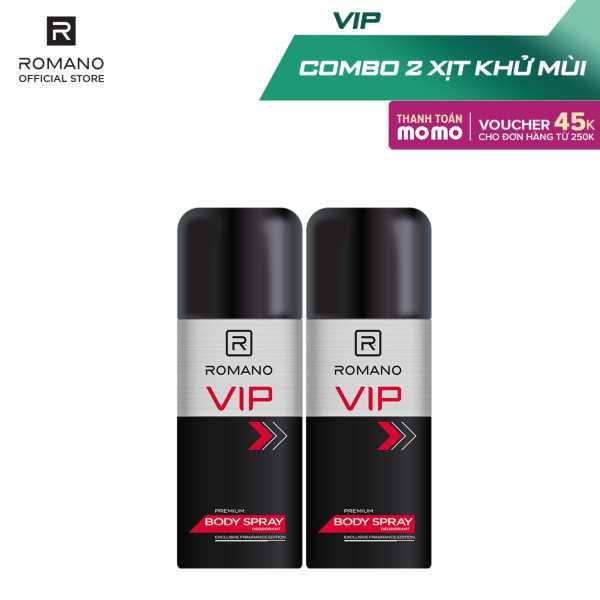Combo 2 Xịt toàn thân cao cấp Romano Vip 150ml giá rẻ